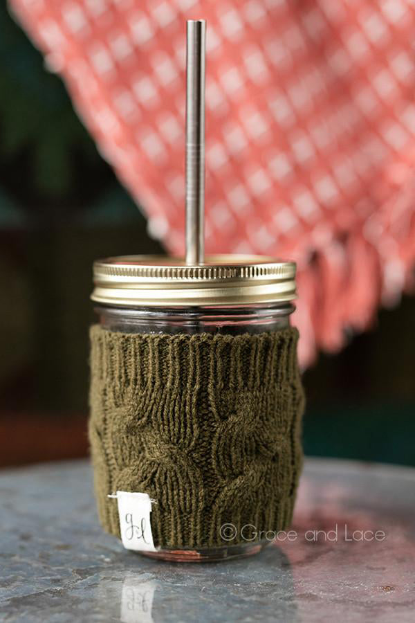 Grace and Lace Cabled Cup Cozy - Babe Outfitters