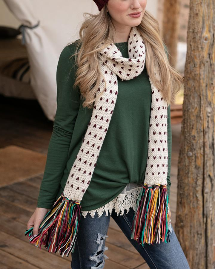 Grace & Lace Whipstitch Scarf - Babe Outfitters