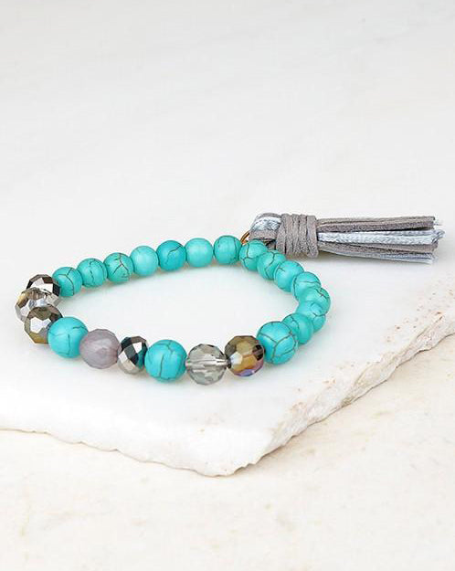Dhyana Bracelet (Turquoise/Grey) - Babe Outfitters