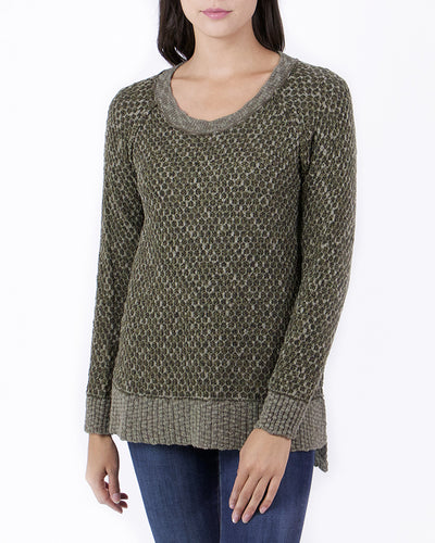 Grace & Lace Honeycomb Knit Sweater™ (Moss) - Mint Wish