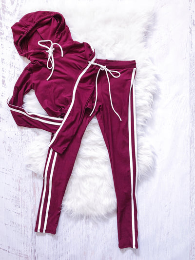 Keep Up Track Set (Burgundy) - Mint Wish