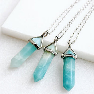 Amazonite Necklace - Silver - Babe Outfitters