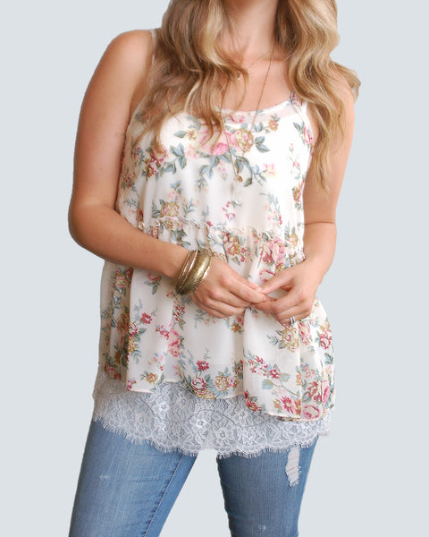Grace & Lace Chantilly Lace Top Extender - Babe Outfitters