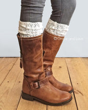 Grace & Lace Lace Knit Boot Socks - Babe Outfitters