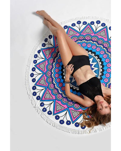 Roundie Beach Towel (Royal Mandala)