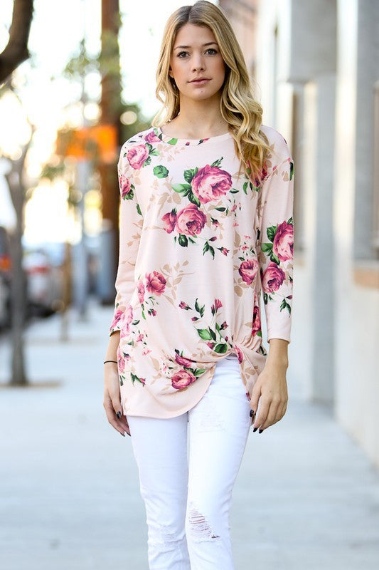 Isabella Front Knot Tunic