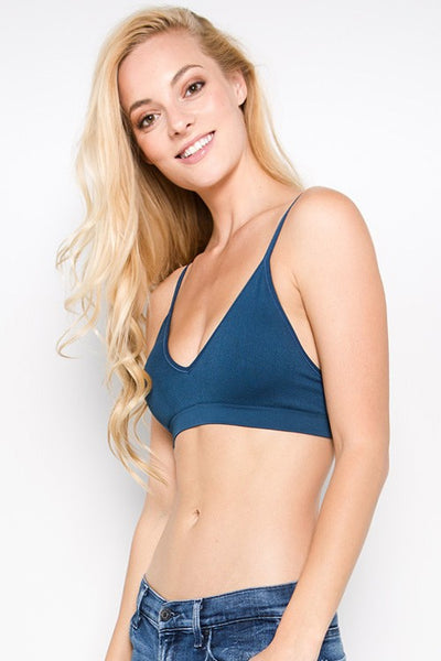 Tamara Ribbed Bralette - Mint Wish