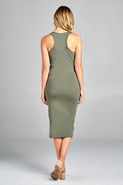 Sleeveless Racerback Midi Dress - Mint Wish