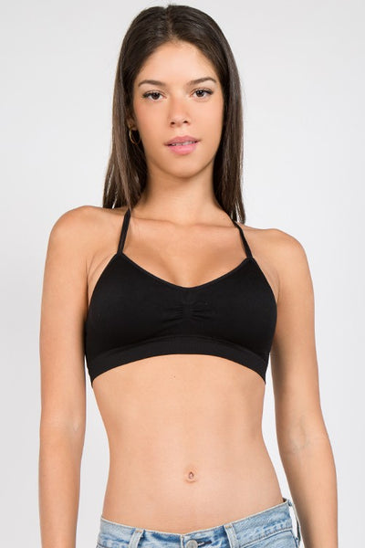 Kara Seamless Strappy Bra - Mint Wish