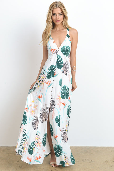 Paradise Found Maxi Dress - Mint Wish
