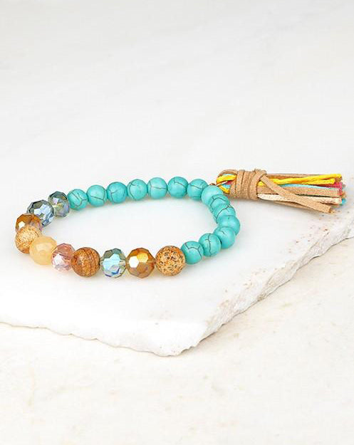 Dhyana Bracelet (Turquoise/Multi) - Babe Outfitters