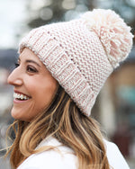 Grace & Lace Waffle Knit Pom Hat - Babe Outfitters