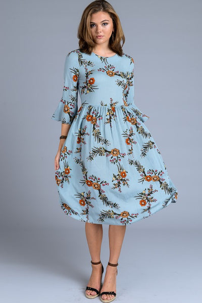 Whispering Fields Dress - Mint Wish