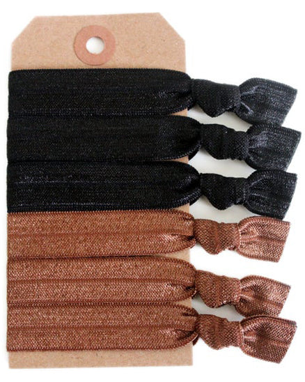 Half & Half Hair Tie Set - Babe Outfitters