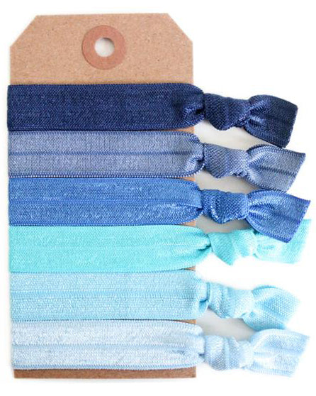 Blue Ombre Hair Tie Set - Babe Outfitters