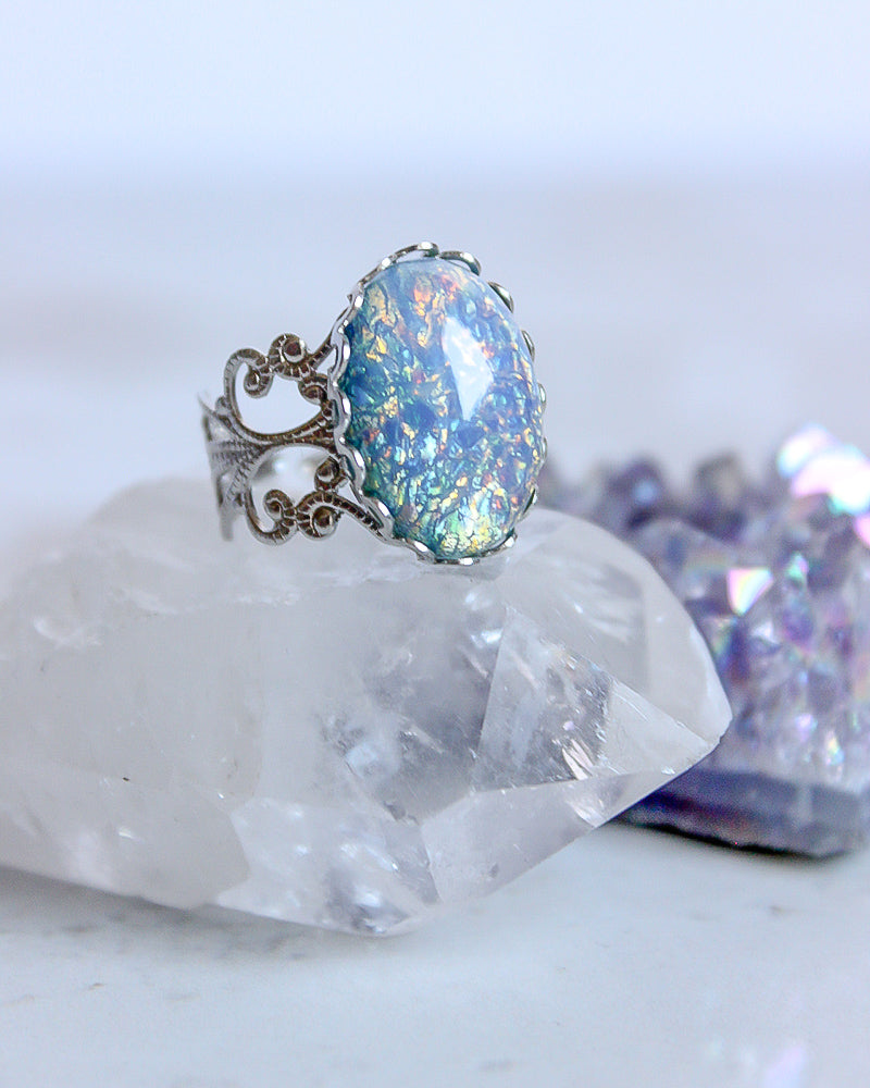 Aura Ring - Blue Opal