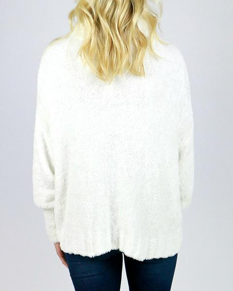 Grace & Lace Cowl Neck Cloud Sweater - Babe Outfitters