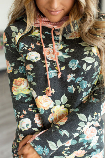 Ampersand DoubleHood™ Sweatshirt - Coming Up Roses - Babe Outfitters