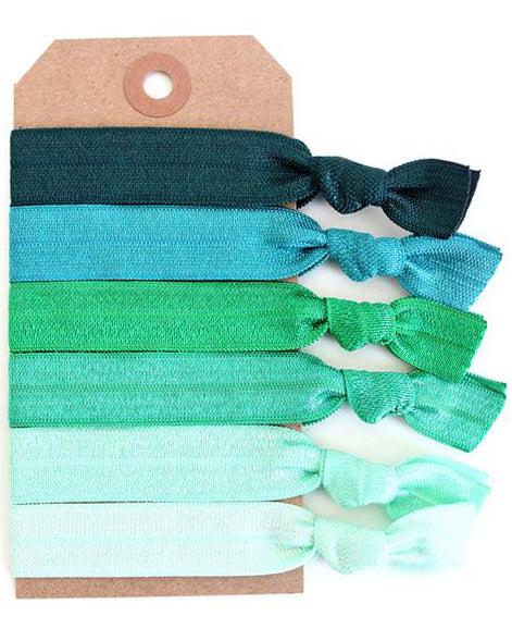 Green Ombre Hair Tie Set - Mint Wish
