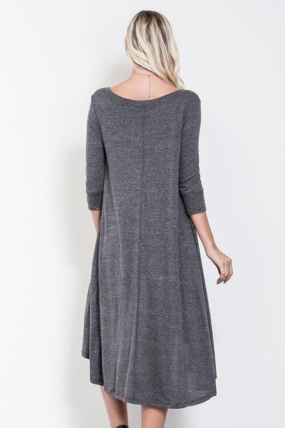 Alivia Hi-Lo Henley Dress - Mint Wish