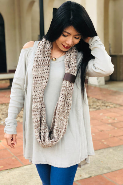 Keeping Cozy Infinity Scarf (Taupe)