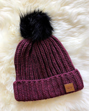 Winter Weekend Pom-Pom Beanie - Babe Outfitters