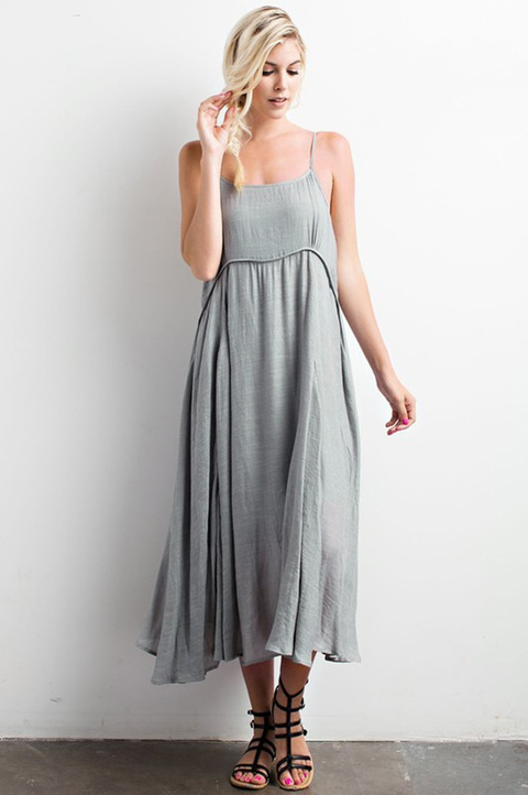 All Who Wander Midi Dress - Mint Wish