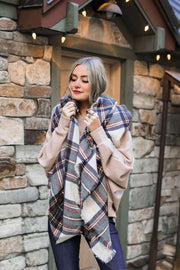 Campfire Blanket Scarf (Teal Plaid)