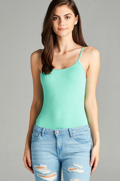 Scoop Neck Cami Bodysuit - Mint Wish