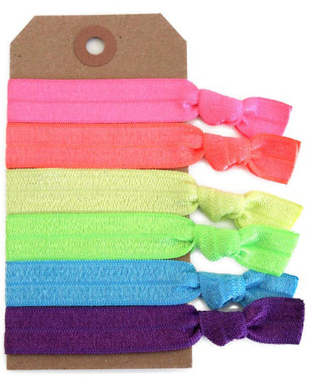 Neon Hair Tie Set - Babe Outfitters