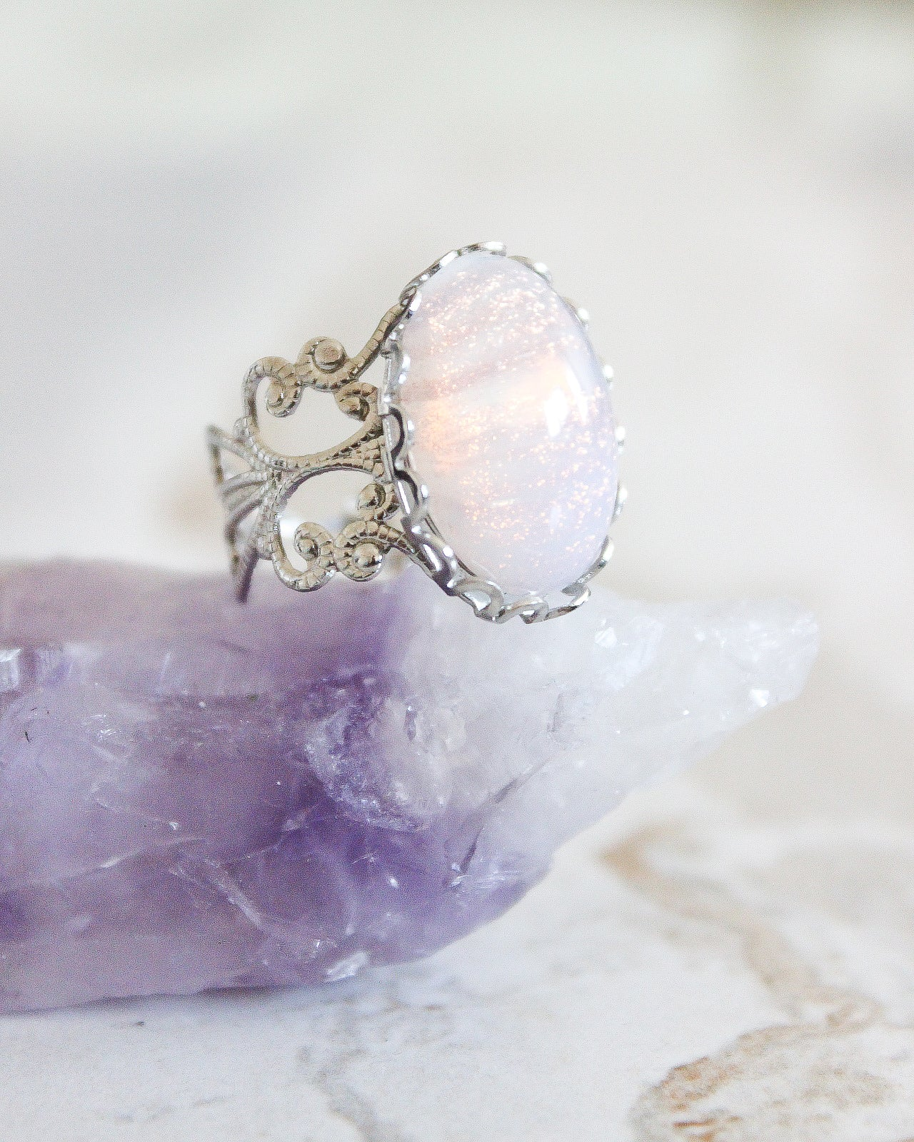 Aura Ring - Peach Shimmer