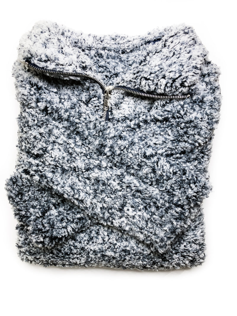 Snowfall Sherpa Pullover - Babe Outfitters