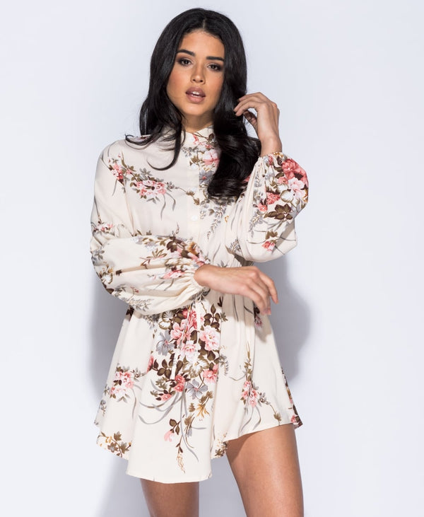 Amelia Button Up Dress - Babe Outfitters