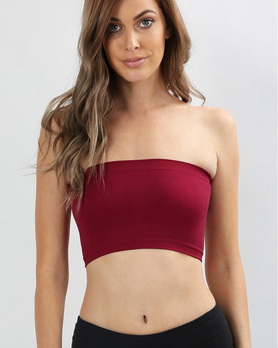 Brooke Seamless Bandeau Top - Mint Wish