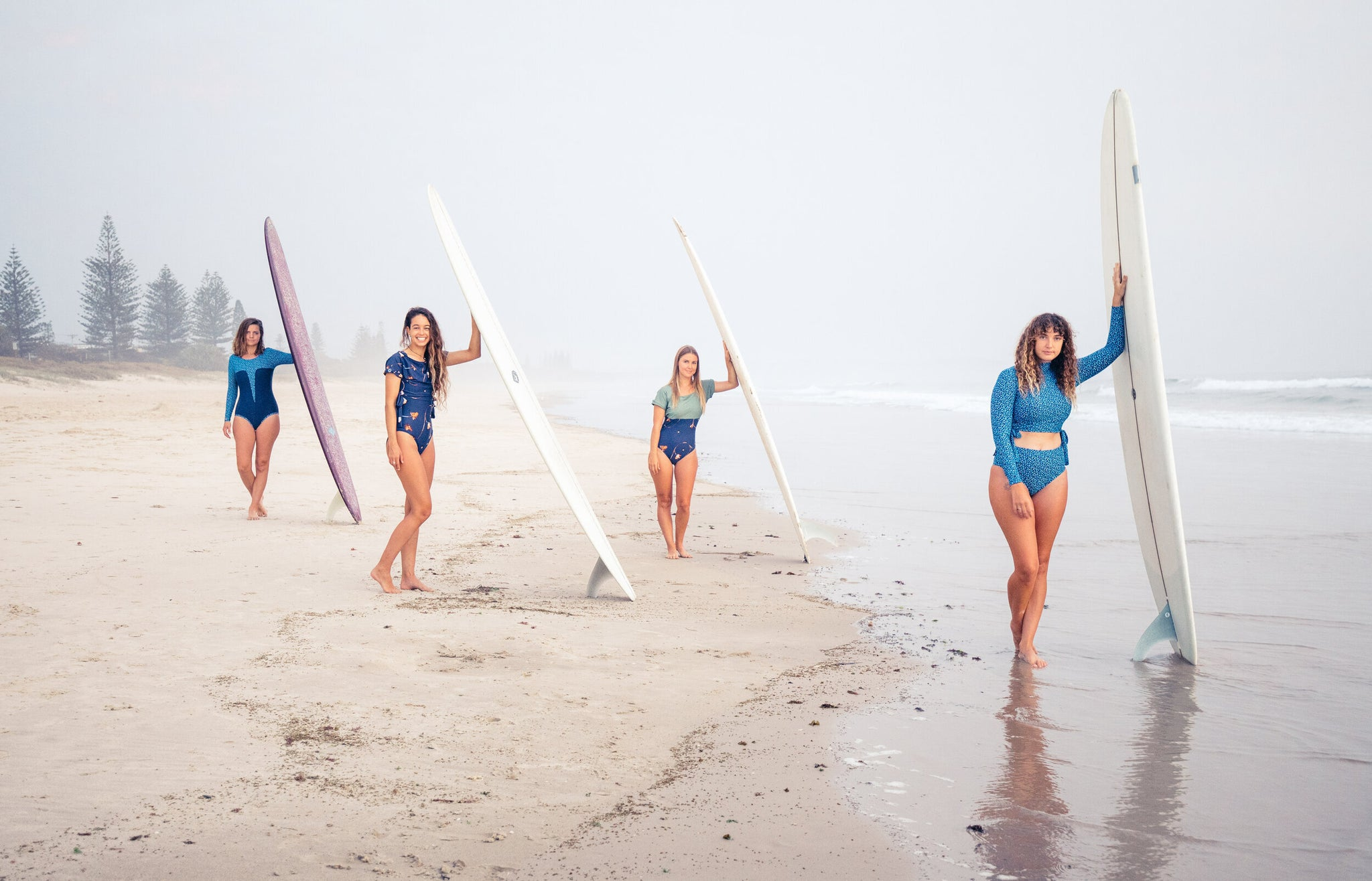 Aquarelle collection by Lore of the Sea swim and surfwear surfsuit rashguard