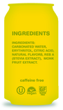 Zevia Zero Calorie Soda (Lemon Lime Twist) - Ingredients - Homegrown Foods, Stony Plain