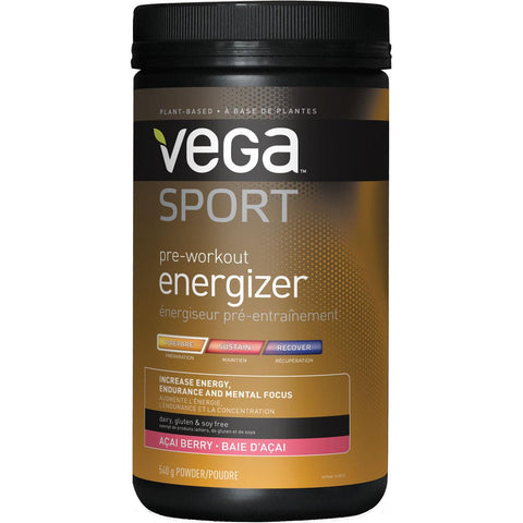 Vega Sport Pre-workout Energizer (Acai Berry) - 540g - Homegrown Foods, Stony Plain