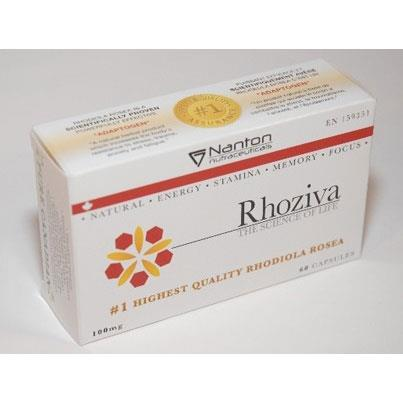 Nanton Nutraceuticals Rhoziva, 100mg - 60 VCaps - Homegrown Foods, Stony Plain