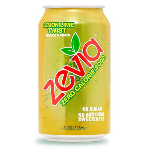 Zevia Zero Calorie Soda (Lemon Lime Twist) - 355ml Can - Homegrown Foods, Stony Plain