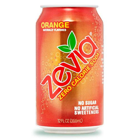 Zevia Zero Calorie Soda (Orange) - 355ml Can - Homegrown Foods, Stony Plain