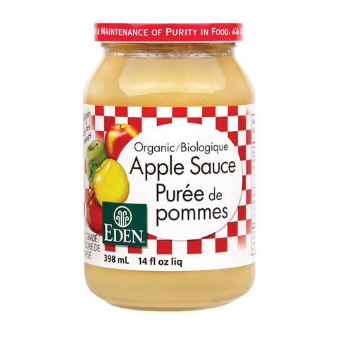 EDEN ORGANIC APPLE SAUCE , 398ML