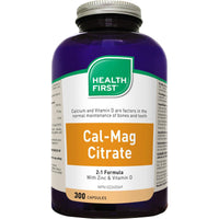 Health First Cal-Mag Citrate 2:1 with Zinc and Vitamin D - Homegrown Foods, Stony Plain