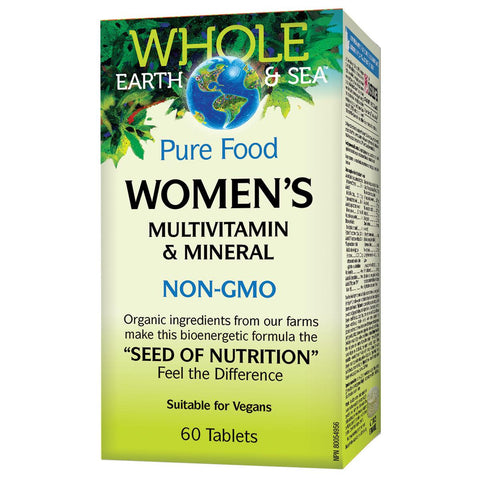 Natural Factors Whole Earth & Sea Women's Multivitamin & Mineral, 60 Tabs