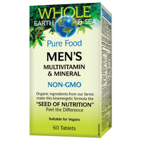 Natural Factors Whole Earth & Sea Men's Multivitamin & Mineral, 60 Tabs
