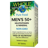 Natural Factors Whole Earth & Sea Men's 50+ Multivitamin & Mineral, 60 Tabs