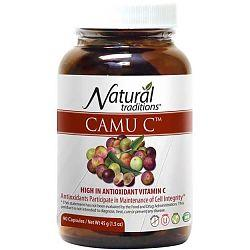 NATURAL TRADITIONS CAMU CAMU BERRY POWDER, 500MG / 90CAPS