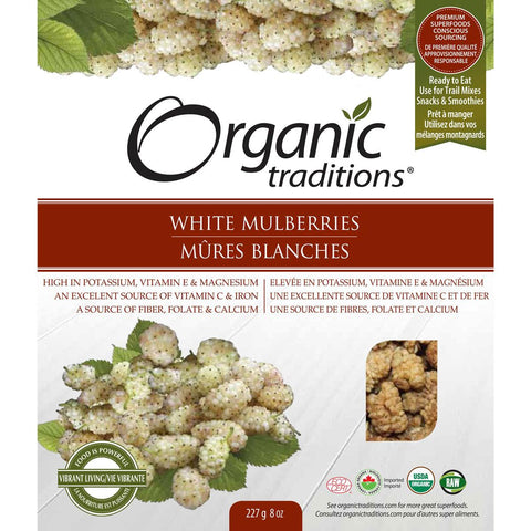 ORGANIC TRADITIONS MULLBERRIES WHITE ORGANIC, 227G