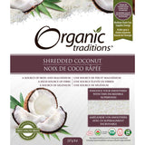 ORGANIC TRADITIONS COCONUT SHREDDED ORGANIC, 227G