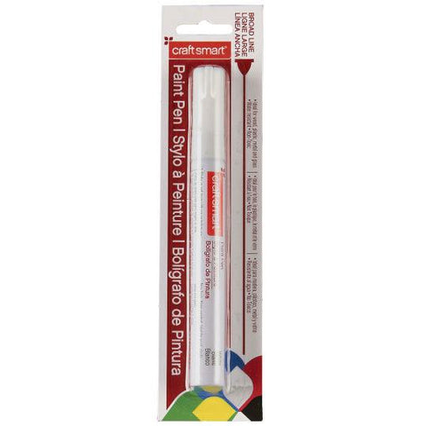 Craft Smart Paint Pen, Fine Tip, White, Homegrown Foods, Stony Plain