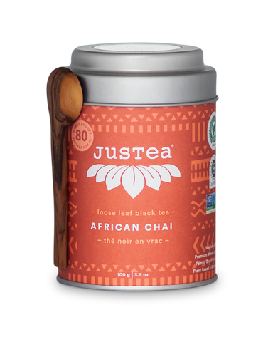 JUSTEA BEVERAGES INC AFRICAN CHAI LOOSE LEAF, 100G